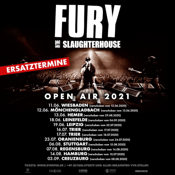 Fury In The Slaughterhouse Open Air 2021